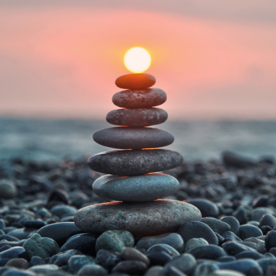 stacked stones wellbeing